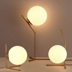 Nordic glass ball led table lamp gold desk light reading lamp la foto se est cargando nordic bola de cristal led lampara de mesa aloadofball Image collections