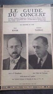 Revista Le Guía de La Concierto Y Las Sketches Letra 1952 N º 11 J.