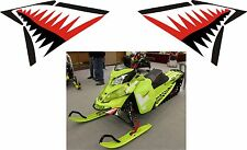 SKI DOO BRP REV Xs xm rs nose cone jaws shark teeth summit DECAL STICKER red