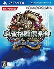 Used PS Vita Mahjong Fight Club: Shinsei Zenkoku Taisen Han Import Japan