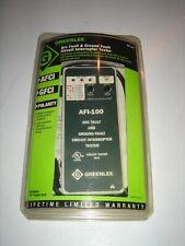 Greenlee Afi 100 Arc Amp Ground Fault Circuit Interrupter Tester Afci Gfci Polarit