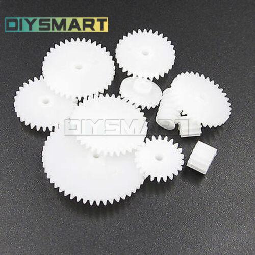 11//34//58//75 kinds Plastic Gear SetRack Pulley Belt Worm Single Double Gears B2AD