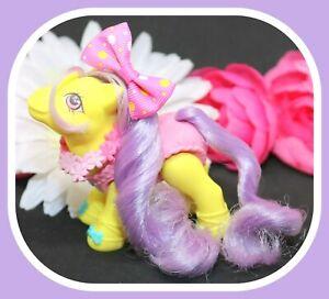 My-Little-Pony-MLP-G1-Vtg-Baby-Toe-Dancer-Baby-BALLERINA-Pony-Yellow-Pink