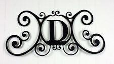 Iron Letter D Monogram Door Wall Decoration Plaque Metal Initial