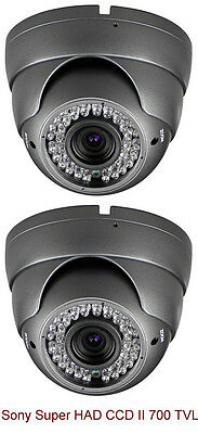 Sony Super HAD CCD II 700 TVL 2.8mm Wide Angle Lens outdoor indoor IR LED Gray