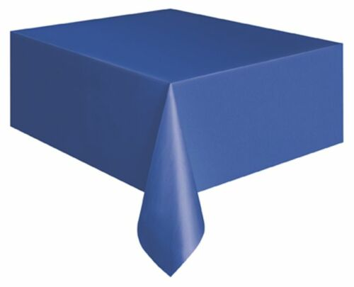 Royal Blue Rectangle Plastic Tablecloth Tablecover Party Tableware Wedding