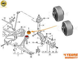 Para-VW-Golf-MK4-R32-AUDI-S3-TT-Brazo-De-Control-Inferior-Wishbone-Bush-MEYLE-Heavy-Duty