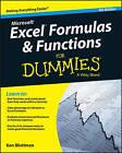 Excel Formulas & Functions For Dummies by Ken Bluttman (Paperback, 2016)