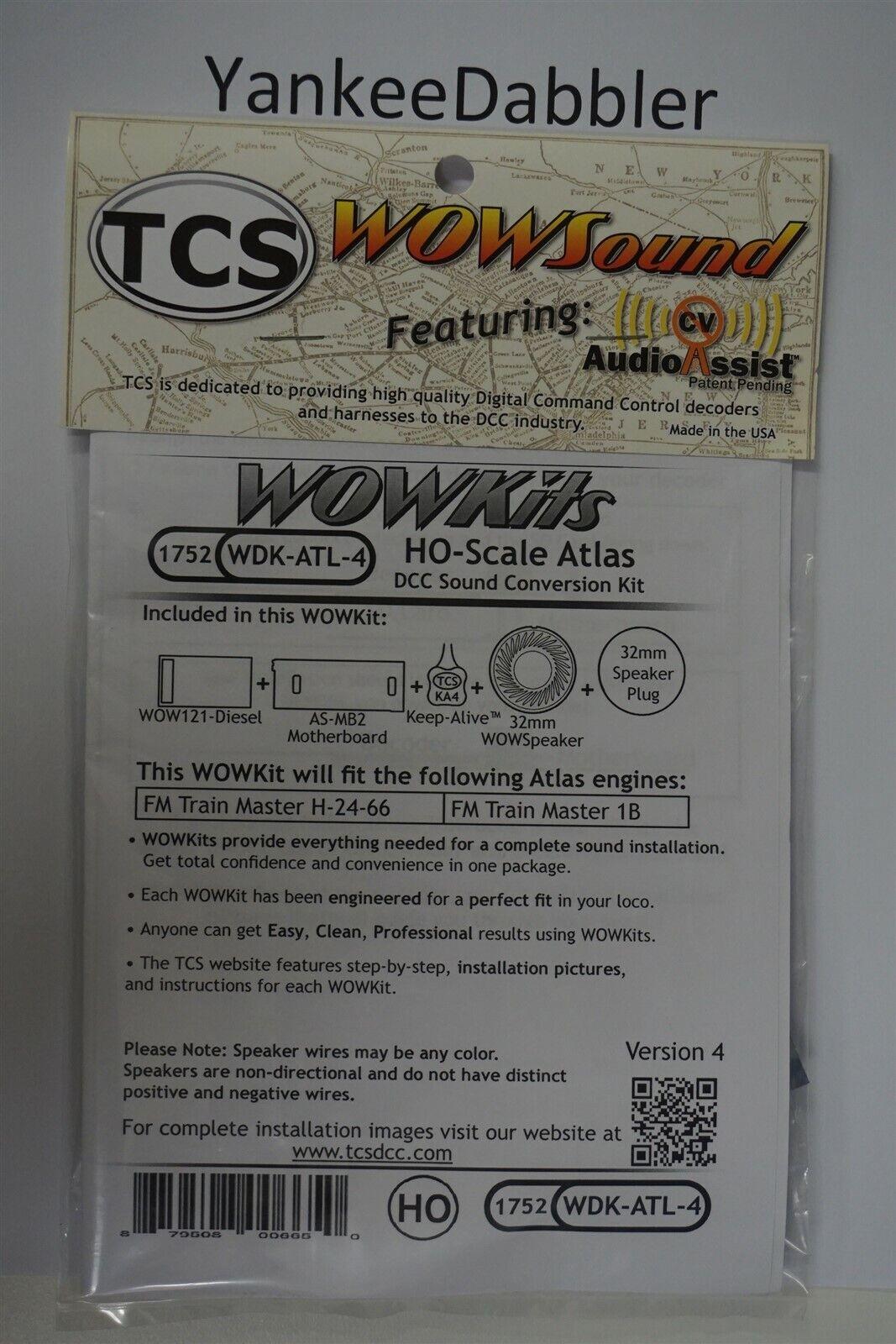 TCS {WOW WDKATL4} 1752 WOW DIESEL HO Scale ATLAS Version 4 nuovo YANKEEDABBLER