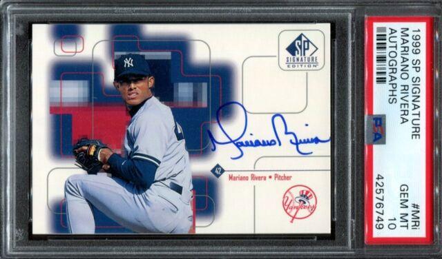 1999 Upper Deck Sp Signature Mariano Rivera Psa 10 Auto Autograph Mri