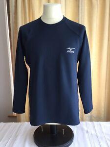 MIZUNO-Navy-Ch40-Manica-Lunga-Top-Active-Wear