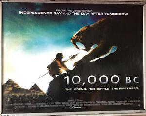 Cinema Poster 10 000 Bc 2008 Quad Roland Emmerich Cliff Curtis Ebay