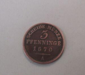 3-Pfennig-1870-A-Scheide-Muenze-PRUSSIA-Wilhelm-I-Kupfer-SS