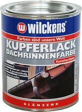 Wilckens Kupferlack 750ml (12,66€/L) Dachrinnenfarbe Eisen Holz Beton Stahl Farb