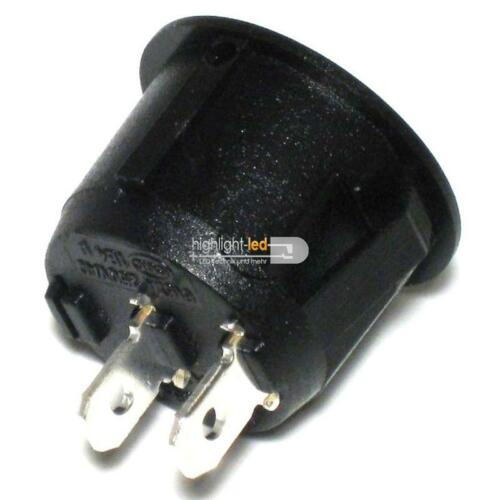 Einbau-Schalter Wippenschalter rund EIN//AUS 1-polig Wippschalter 250V//6A
