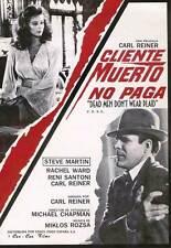 DEAD MEN DON'T WEAR PLAID Movie POSTER 11x17 Spanish Steve Martin Rachel Ward