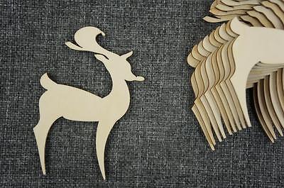 FleißIg 10 Stk. Rentier Blank Holz Dekoration Winterdeko Christmas Kreativ /w48/ 100% Garantie