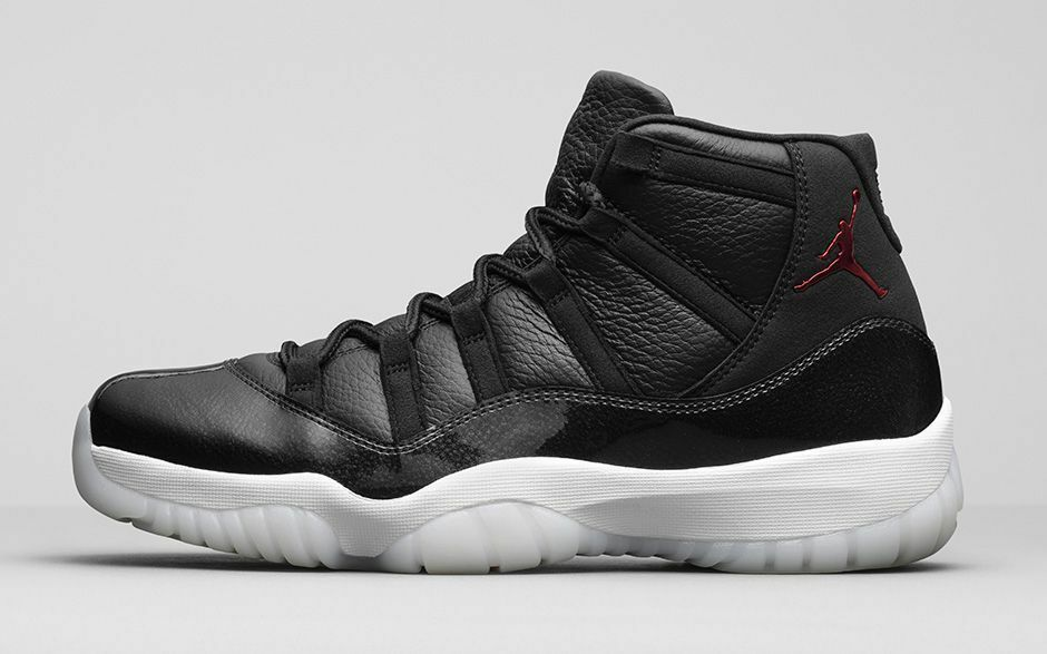 2015 Nike Nike Nike Air Jordan 11 XI Retro 72-10 Size 14. 378037-002 black red white bred 46900d