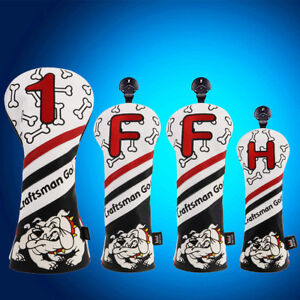 Golf-Headcover-Set-460CC-Driver-Fairway-Wood-Hybrid-Headcover-Sythtic-PU-Leather