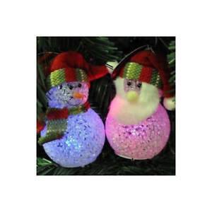 6-x-10cm-luce-cambia-colore-a-LED-Babbo-Natale-Pupazzo-di-Neve-Natale-Decorazione-Natalizia