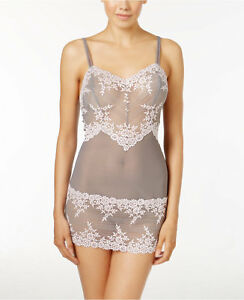 2d22aae7f76 Image is loading Wacoal-Embrace-Lace-Frost-Grey-Primrose-Chemise-814191