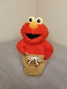 "Cookie Monster Elmo Potato Sack Racer 11"" Tall Fisher-Price 2002 Mattel"