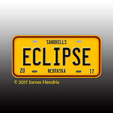 Total Solar Eclipse 2017  Sandhills of Western Nebraska Custom License Plate