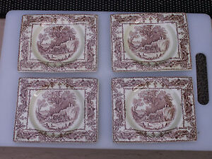 Details about SET OF 4 ROYAL STAFFORDSHIRE GREAT BRITAIN THE BIARRITZ A J  WILKINSON DISH