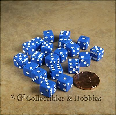 NEW 20 Red /& Blue Mini 8mm Small 6 Sided RPG MTG Game Dice Set 5//16 inch D6