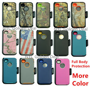 For-Apple-iPhone-4-4s-Defender-Case-Cover-w-Clip-fit-Otterbox-amp-Screen-Protector