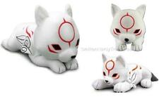 "CAPCOM Licensed DELUXE 20"" XL Okamiden OKAMI CHIBITERASU Laying PLUSH Pillow"