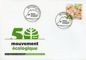 Luxembourg-2018-FDC-mouvement-Ecologique-1-V-Set-Cover-Nature-Environnement-timbres
