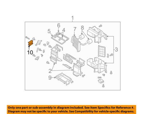 SUBARU OEM 00-04 Outback 2.5L-H4 Heater-Mode Actuator 72142AE00A