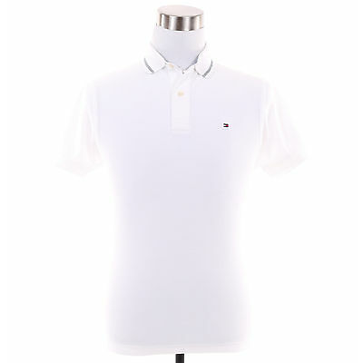 Tommy Hilfiger Men Short Sleeve Classic Fit Pique Rugby Polo Shirt -Free $0 Ship