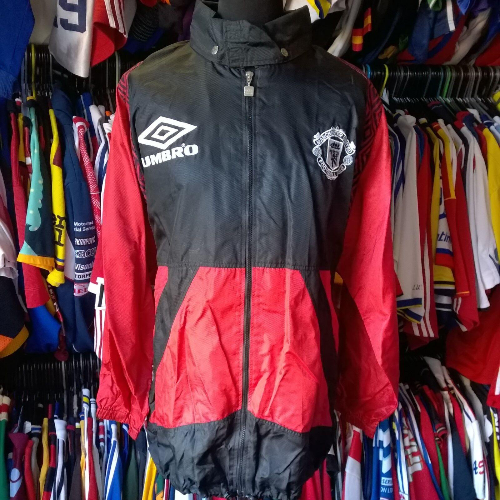 uomochester United 1998 Impermeabile Calcio Formazione Pro Shell Taglia Adulto 2XL
