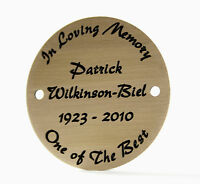 50mm Circular Solid Brass Plaque/Name plate. Deep Engraving in Solid Brass