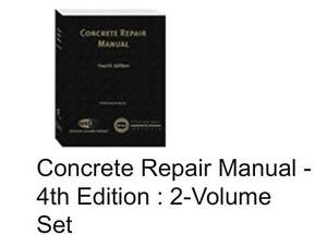 concrete repair manual fourth edition 2013 hardcover rh ebay com concrete repair manual 4th edition concrete repair manual 4th edition