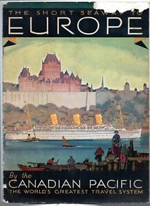 ST-LAWRENCE-SHORT-SEAWAY-TO-EUROPE-Canadian-Pacific-1932-Brochure-Anton-Bruehl