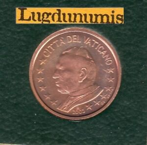 Vatican 2005 5 Centimes d'Euro BU FDC 85000 exemplaires Provenant du coffret BU