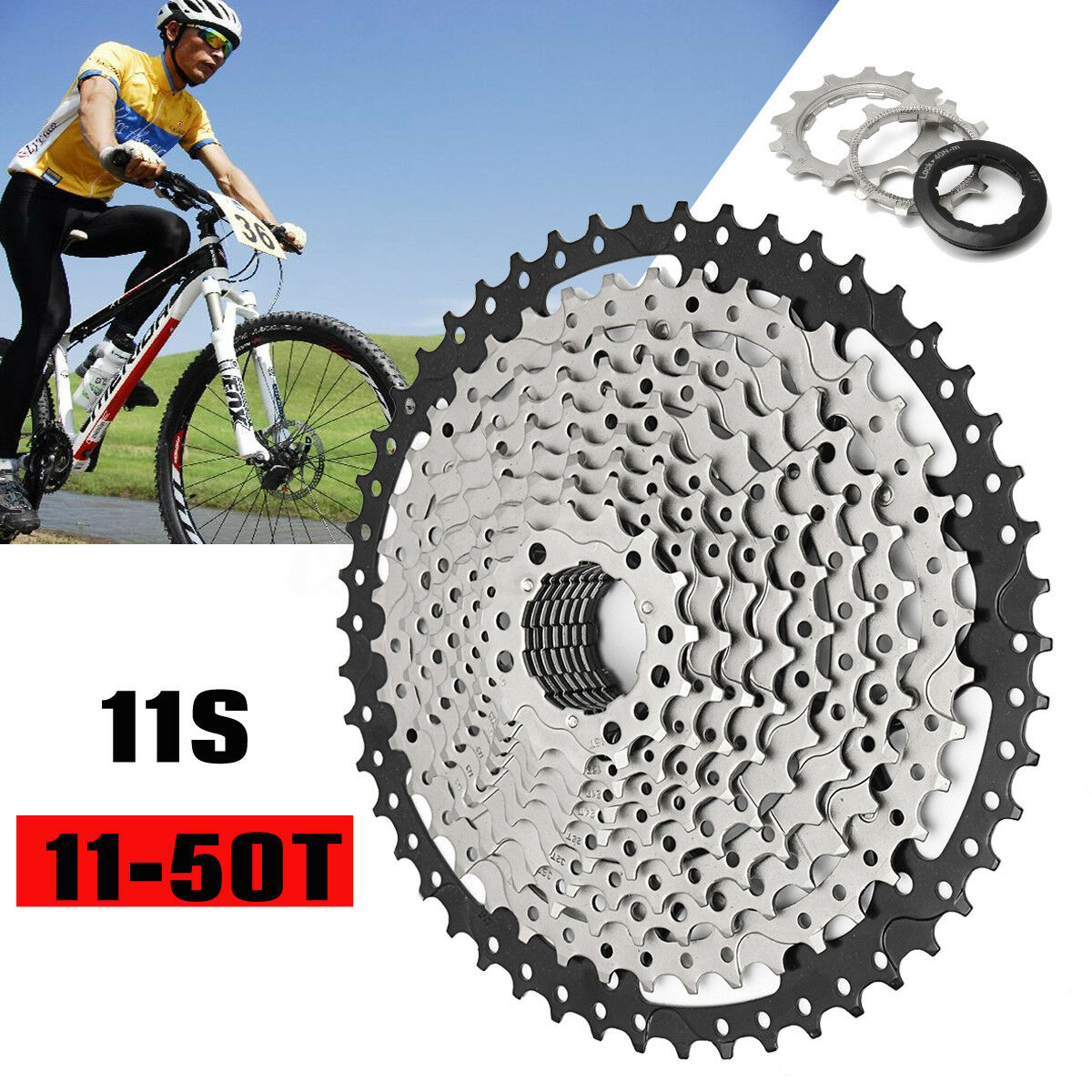 11-50T Mountain Cycling Freewheels 11 Speed Bicycle  Flywheel Bike Cassette Part  conveniente