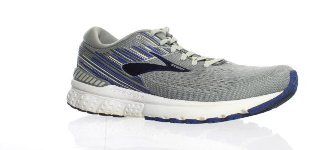 Brooks Mens Adrenaline Gts 19 Grey/Blue Running Shoes Size 10 (1413708)