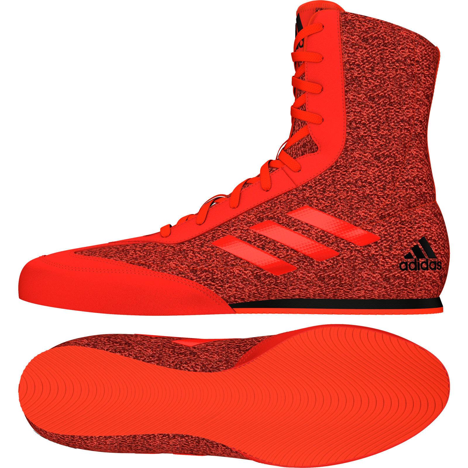 Adidas Box Hog plus Boxe Bottes Hommes Rouge Chaussures De Sport Baskets