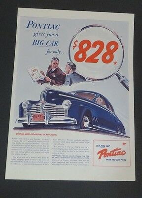 Objective Original 1941 Print Ad Pontiac Big Car For $828 Sedan Vintage Art Torpedo Buy Now Advertising-print