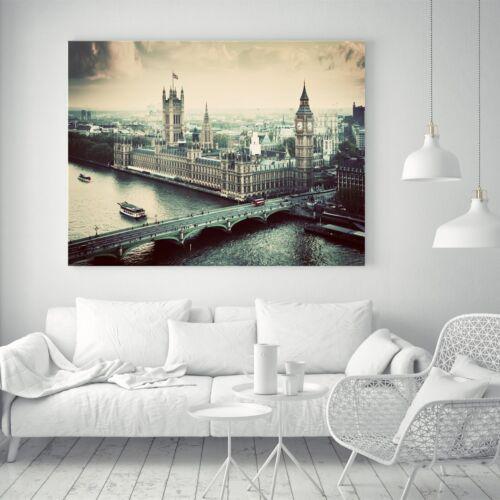 London bridge Cityscape Art Vintage Silk Canvas Poster Fabric Painting Decor A08