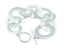 Silver Linked Circles Washers Loops Bracelet Free Ship Fashion Jewelery