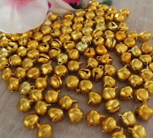 10//25//50//100x Glöckchen Glocken 6x8 mm Gold Farbe Metall Deko Basteln Öse