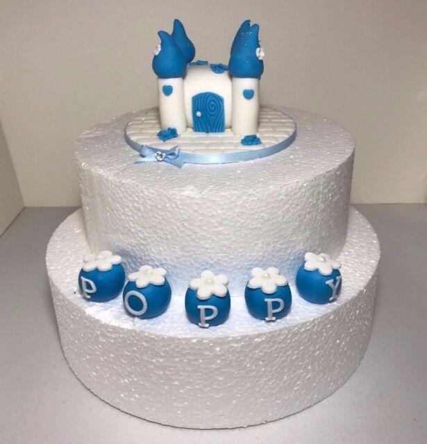 Brilliant Edible Princess Cinderella Castle Cake Topper Plus Name Sugarpaste Funny Birthday Cards Online Fluifree Goldxyz