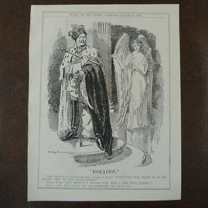 """Berlin Congress And Digestion Helping Art 7x10"""" Punch Cartoon 1908 Isolation Kaiser Wilhelm"""