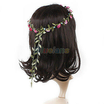 Women Girl Elegant Festival Flower Headband Wedding Bridal Garland Wreath B22A