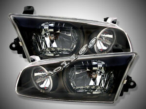 Image Is Loading 2000 2001 Toyota Camry Headlights Jdm Black Halo